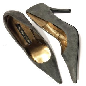 CHINESE LAUNDRY Gray Suede Volant Pump 6